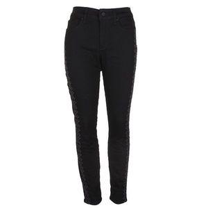 Nydj Black Ami Embroidered Skinny Legging Jeans 4